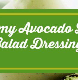 Creamy Avocado Lime Salad Dressing